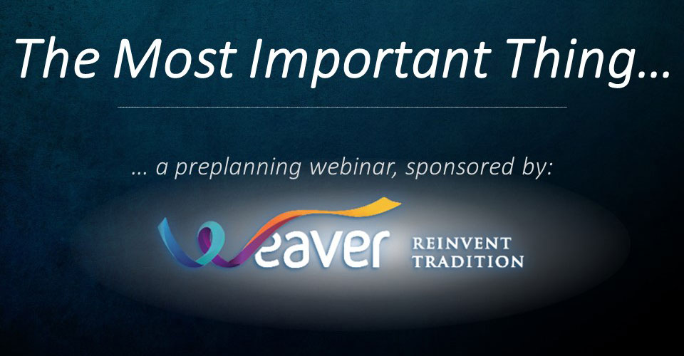 The Most Important Thing Webinar